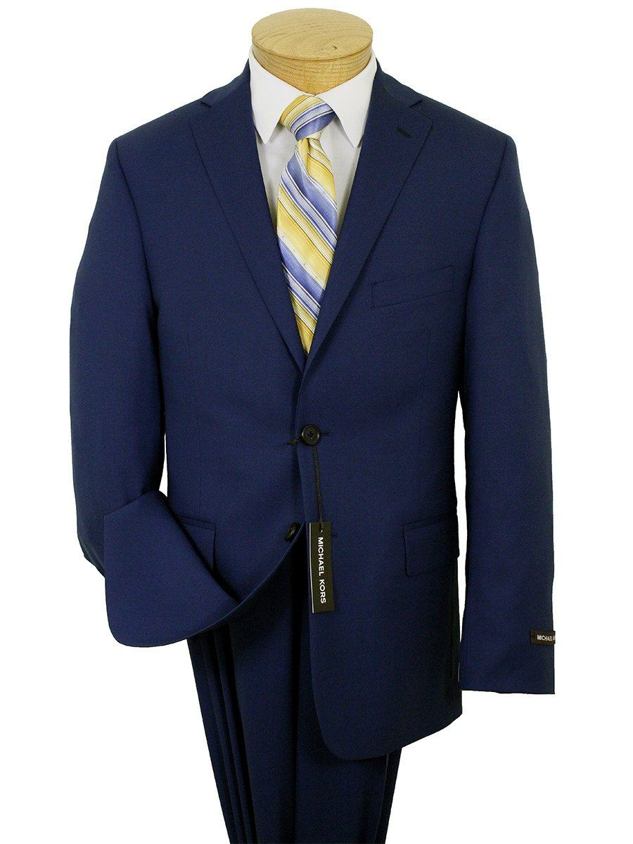 Micheal Kors 21965 100% Wool Boy's Suit - Natural Stretch - Solid - Blue Boys Suit Michael Kors