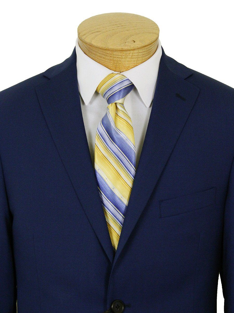 Micheal Kors 21965 100% Wool Boy's Suit - Natural Stretch - Solid - Blue