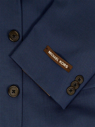 Image of Micheal Kors 21965 100% Wool Boy's Suit - Natural Stretch - Solid - Blue Boys Suit Michael Kors