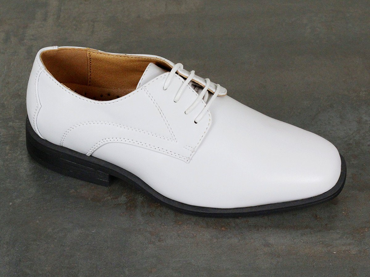 Stacy Adams 22008 Man-Made Boy's Shoe - Oxford - White