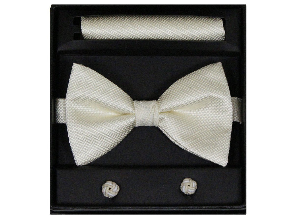 Boy's Bow Tie Box Set 22259 Ivory Boys Bow Tie Giorgio Bissoni