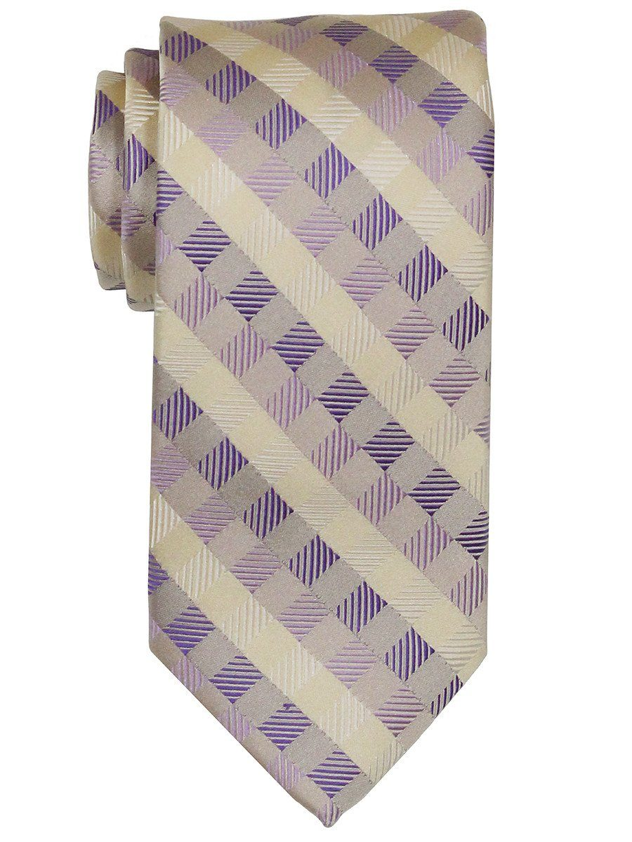 Heritage House 22413 100% Woven Silk Boy's Tie - Neat Style - Tan/Pink/Purple Boys Tie Heritage House