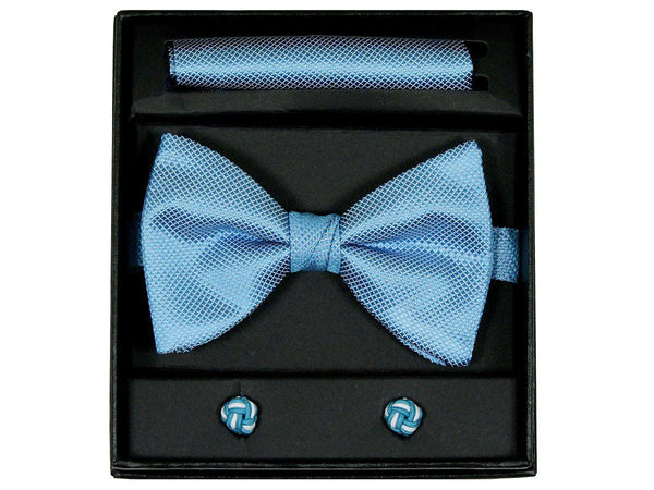 Boy's Bow Tie Box Set 22526 Aqua