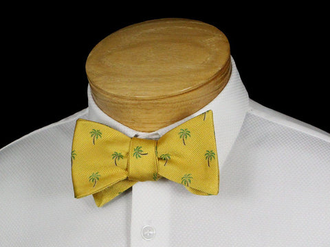 Boy's Bow Tie 22527 Yellow Palm Tree Pattern Boys Bow Tie Scotty Z