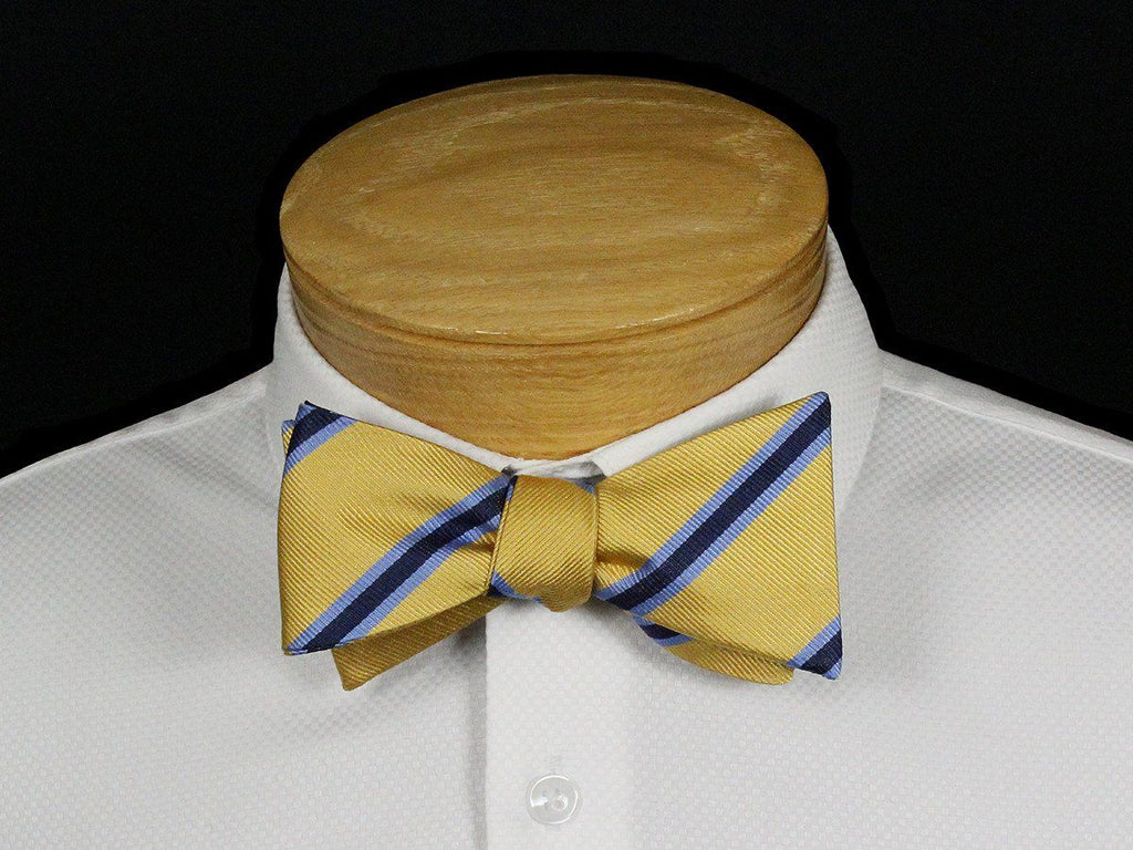 Boy's Bow Tie 22528 Yellow/Blue Stripe Boys Bow Tie Scotty Z