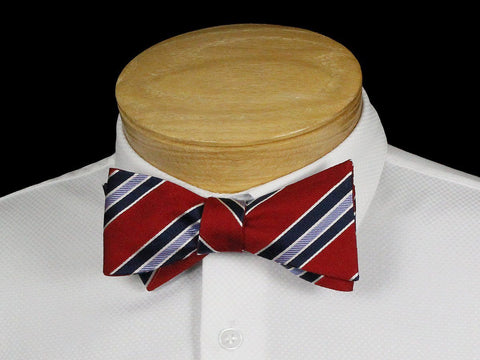Boy's Bow Tie 22531 Red/Navy Stripe Boys Bow Tie Scotty Z
