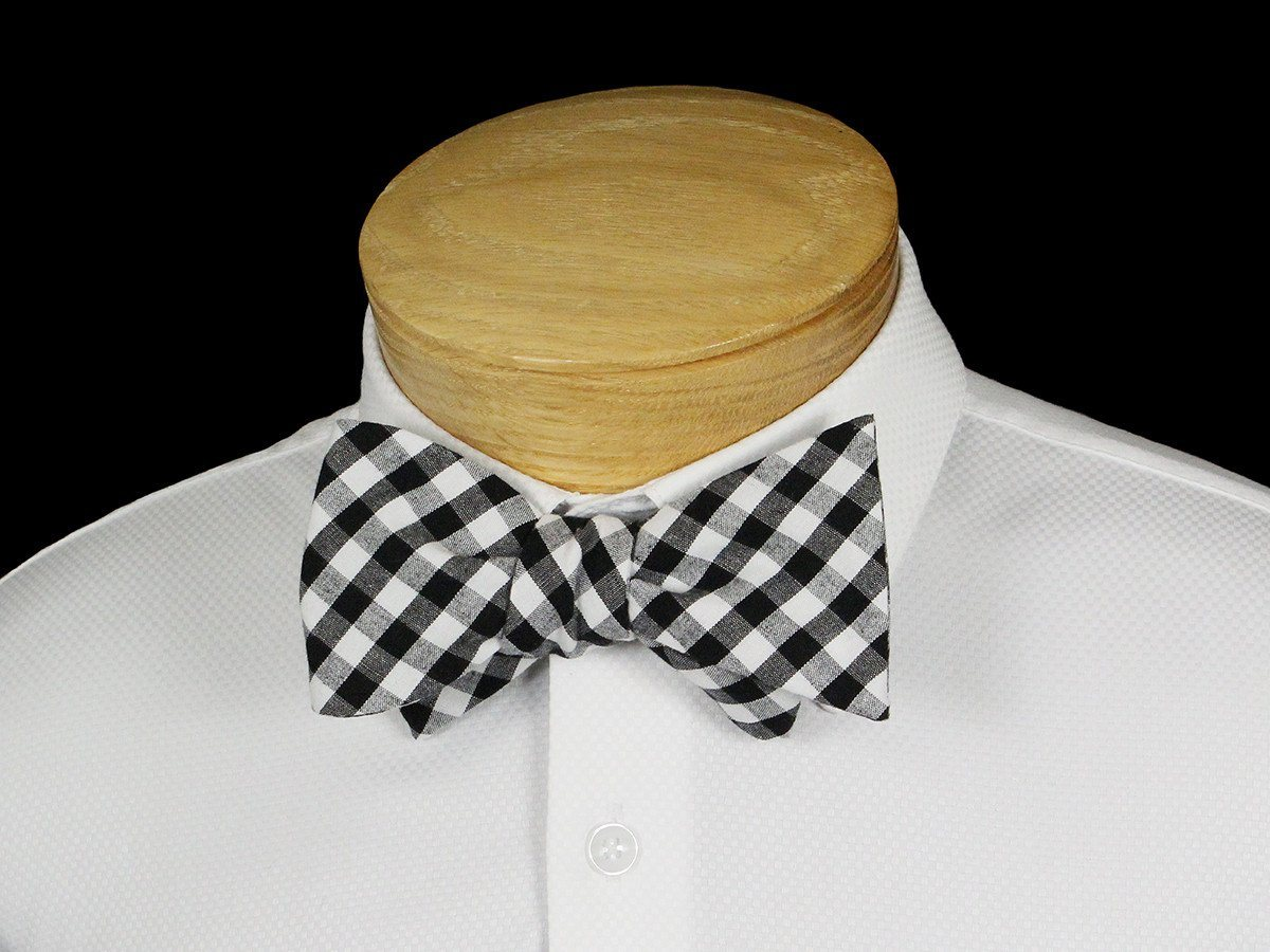 Boy's Bow Tie 22537 Black/White Gingham