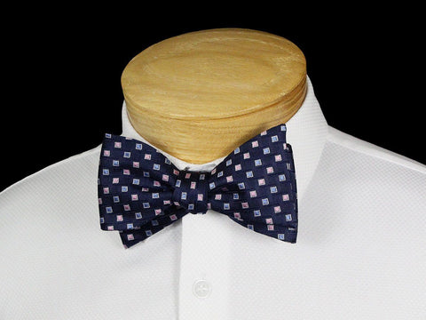 Boy's Bow Tie 22539 Navy/Blue/Pink Neat Boys Bow Tie Scotty Z