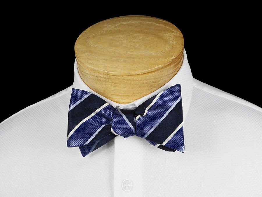 Boy's Bow Tie 22540 Blue/Navy/White Boys Bow Tie Scotty Z