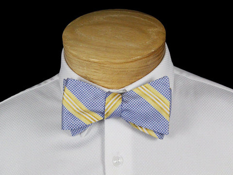 Boy's Bow Tie 22541 Blue/Yellow Stripe Boys Bow Tie Scotty Z