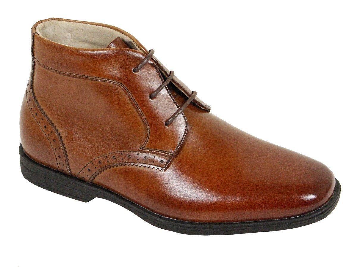 Florsheim 22564 Leather Boy's Shoe - Mid-top - Cogn