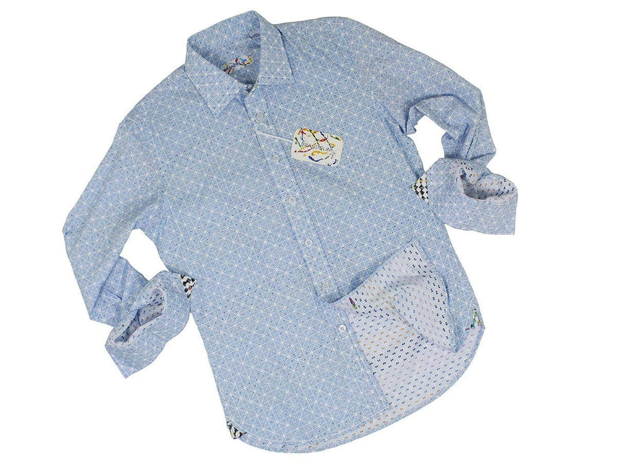 Boy's Sport Shirt 22601 Blue Boys Sport Shirt Brandolini
