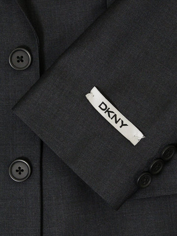 DKNY 22722 100% Wool Boy's Suit - Solid - Dark Gray Boys Suit DKNY