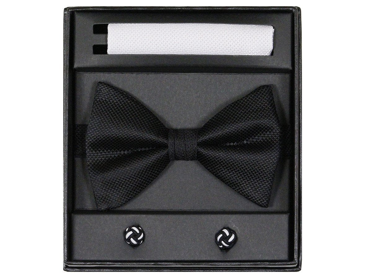 Boy's Bow Tie Box Set 22730 Black