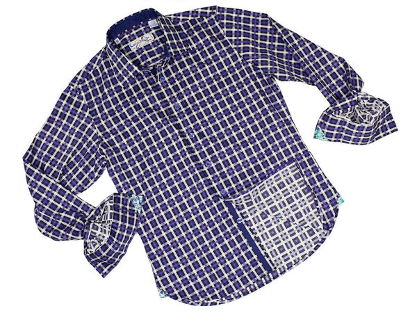 Boy's Sport Shirt 22846 Purple Plaid