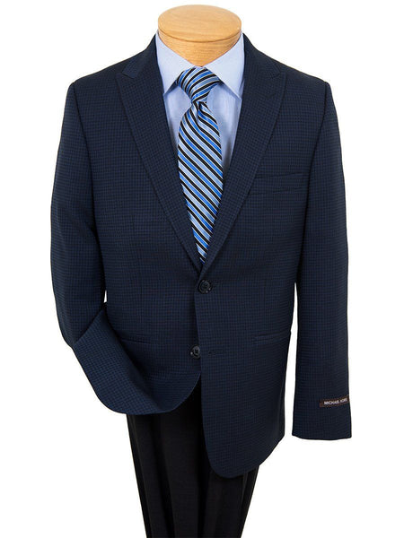 Boy's Sport Coat 22864 Navy Houndstooth