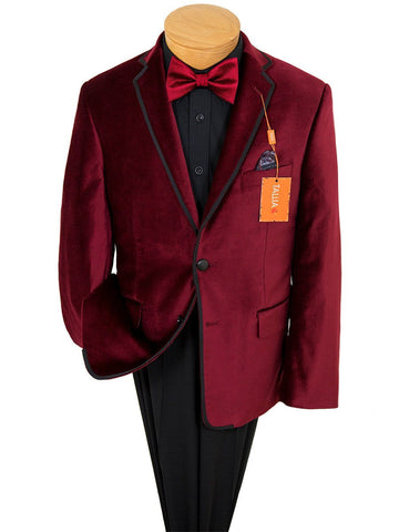 Image of Boy's Sport Coat 22889 Red Boys Sport Coat Tallia
