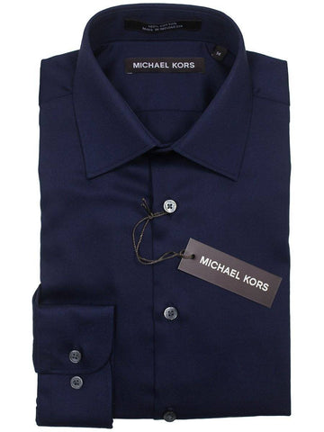 Michael Kors 22901 100% Cotton Boy's Dress Shirt - Solid Broadcloth - Navy Boys Dress Shirt Michael Kors