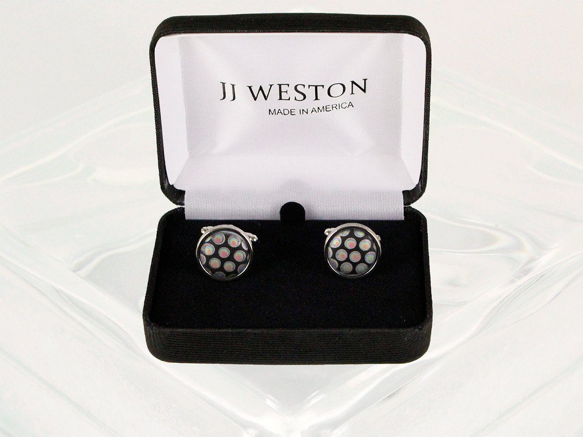 Boy's Cuff Links 22949 Black/Silver