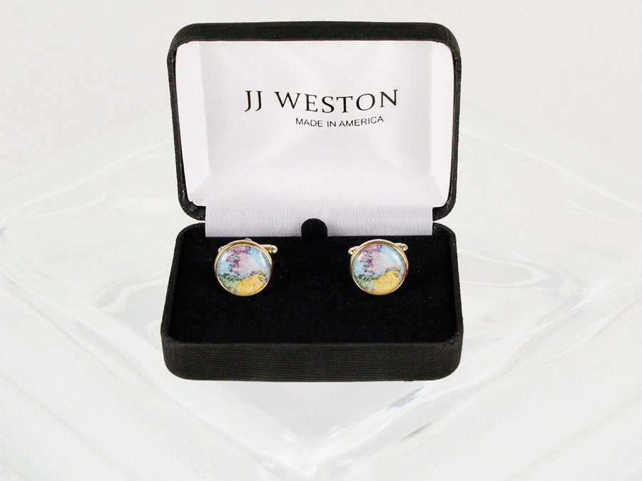 Boy's Cuff Links 22950 Gold Boys Cufflinks JJ Weston