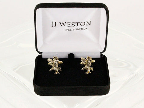 Boy's Cuff Links 22953 Gold Boys Cufflinks JJ Weston