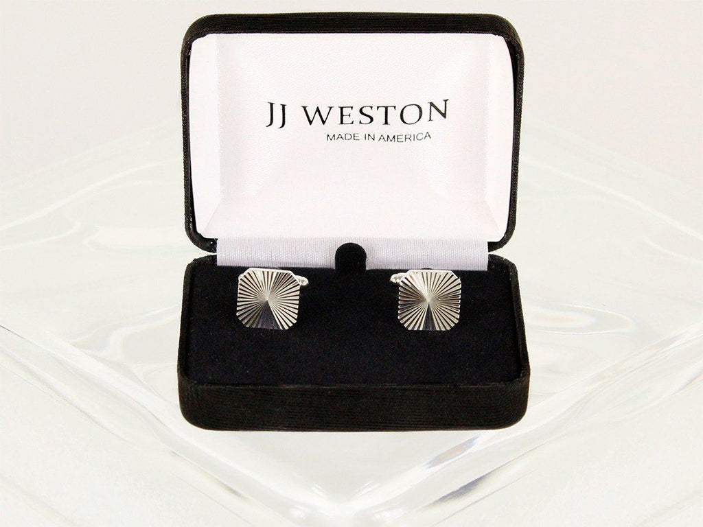 Boy's Cuff Links 22955 Silver Boys Cufflinks JJ Weston