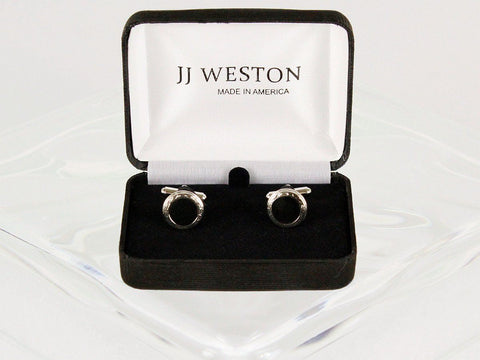 Boy's Cuff Links 22957 Silver Boys Cufflinks JJ Weston