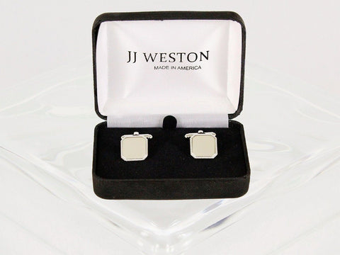 Boy's Cuff Links 22959 Silver Boys Cufflinks JJ Weston