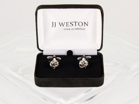Boy's Cuff Links 22960 Silver Boys Cufflinks JJ Weston