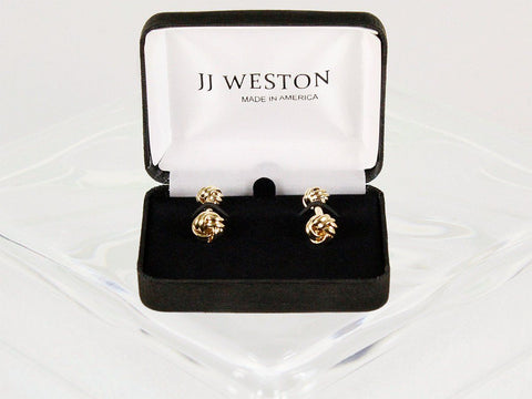 Boy's Cuff Links 22961 Gold Boys Cufflinks JJ Weston