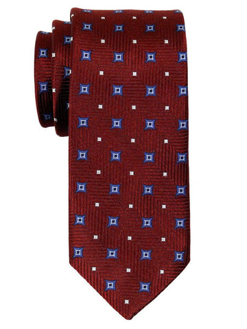 Heritage House 23059 100% Woven Silk Boy's Tie - Neat Stars - Red/Blue Boys Tie Heritage House
