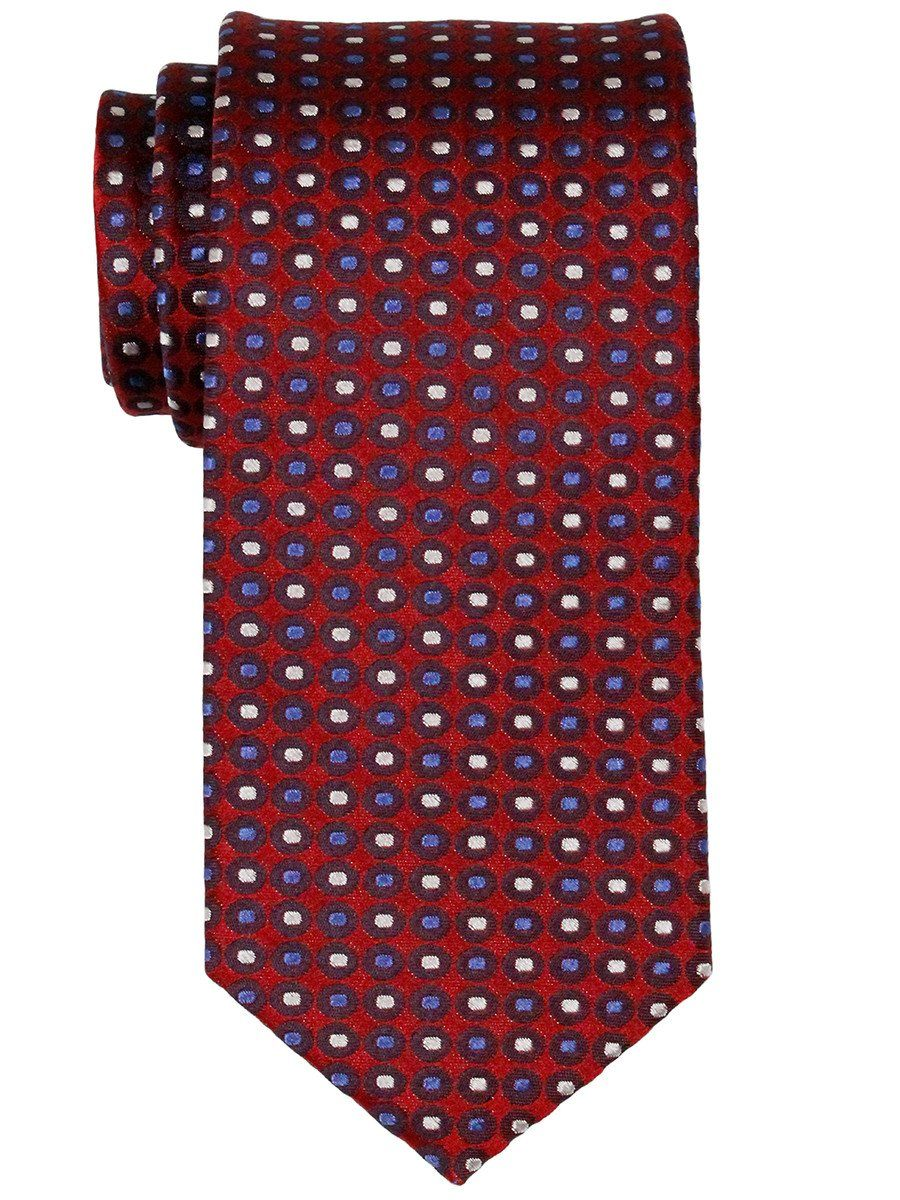 Heritage House 23077 100% Woven Silk Boy's Tie - Neat - Red/Blue/Silver Boys Tie Heritage House