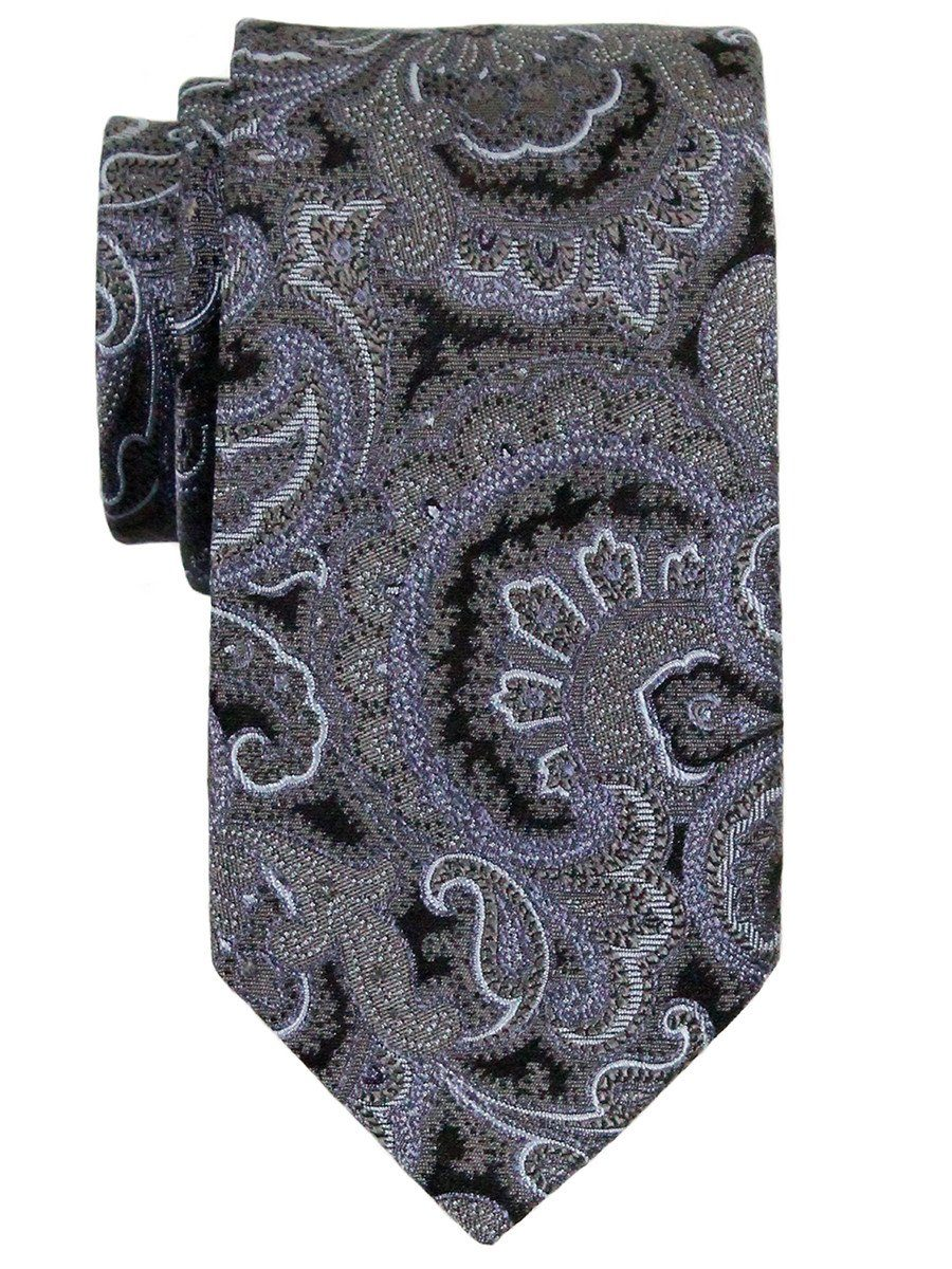 Heritage House 23136 100% Woven Silk Boy's Tie - Paisley - Grey/Blue/Black Boys Tie Heritage House