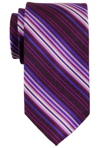 Heritage House 23178 100% Woven Silk Boy's Tie - Stripe - Purple Boys Tie Heritage House
