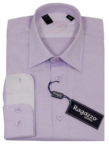 Ragazzo 23234 100% Cotton Boy's Dress Shirt - Weave - Lavender