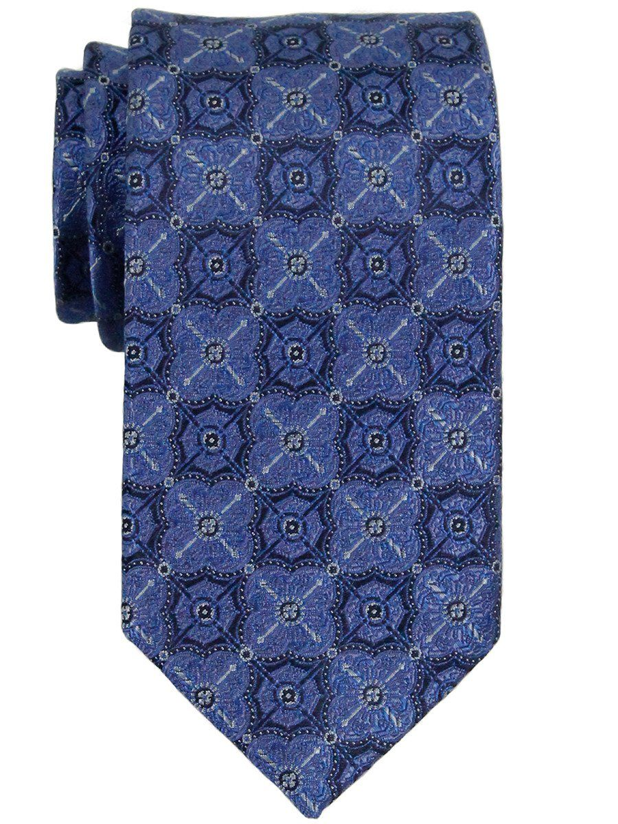 Heritage House 23297 100% Woven Silk Boy's Tie - Neat - Blue/Navy Boys Tie Heritage House