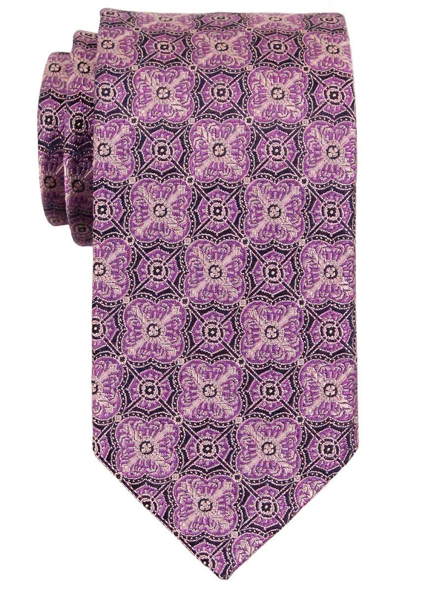 Heritage House 23301 100% Woven Silk Boy's Tie - Neat - Purple