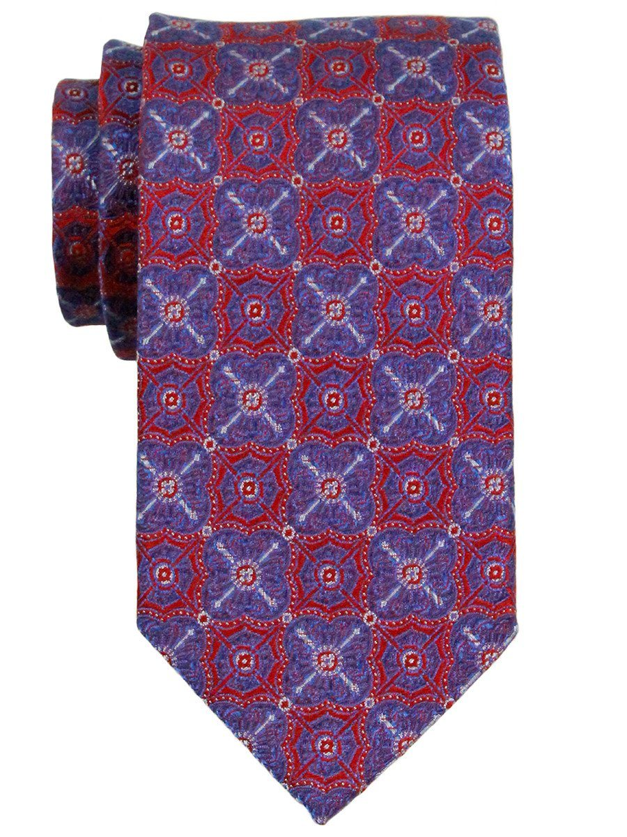 Heritage House 23303 100% Woven Silk Boy's Tie - Neat - Red/Blue