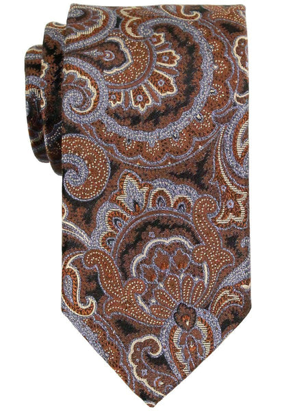 Heritage House 23315 100% Woven Silk Boy's Tie - Paisley - Brown/Blue