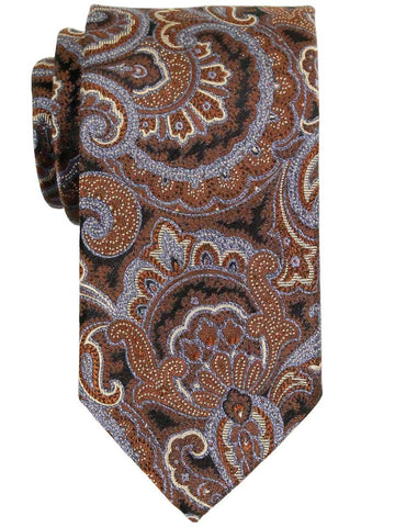 Heritage House 23315 100% Woven Silk Boy's Tie - Paisley - Brown/Blue Boys Tie Heritage House