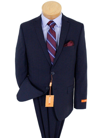 Image of Tallia 23340 52% Wool/ 46% Polyester/ 2% Elastane Boy's Skinny Fit Suit - Solid - Navy Boys Suit Tallia