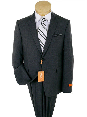 Image of Tallia 23367 52% Wool/ 46% Polyester/ 2% Elastane Boy's Suit - Solid - Gray Boys Suit Tallia