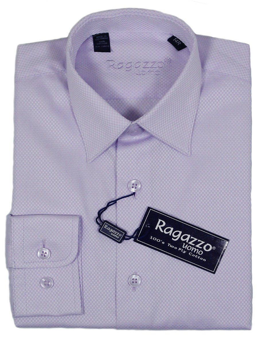 Ragazzo 23412 100% Cotton Boy's Dress Shirt - Box Weave - Lilac