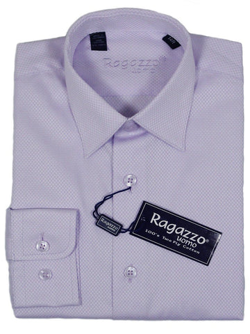 Ragazzo 23412 100% Cotton Boy's Dress Shirt - Box Weave - Lilac Boys Dress Shirt Ragazzo
