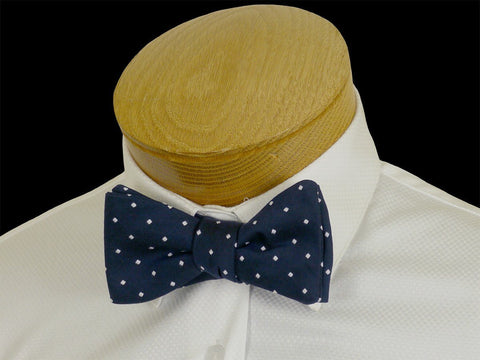 Boy's Bow Tie 23571 Navy/White Dot Boys Bow Tie High Cotton