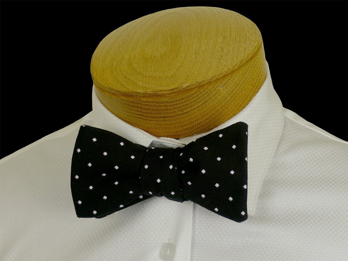 Boy's Bow Tie 23572 Black/White Dot
