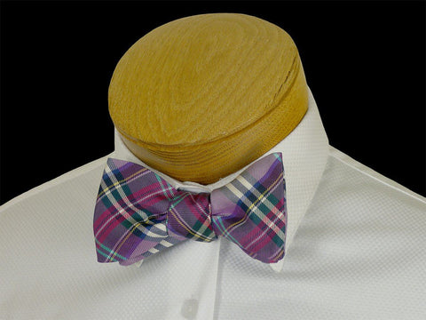 Boy's Bow Tie 23573 Purple Plaid Boys Bow Tie High Cotton
