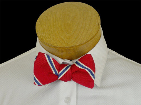 Boy's Bow Tie 23578 Red/Blue Stripe Boys Bow Tie High Cotton