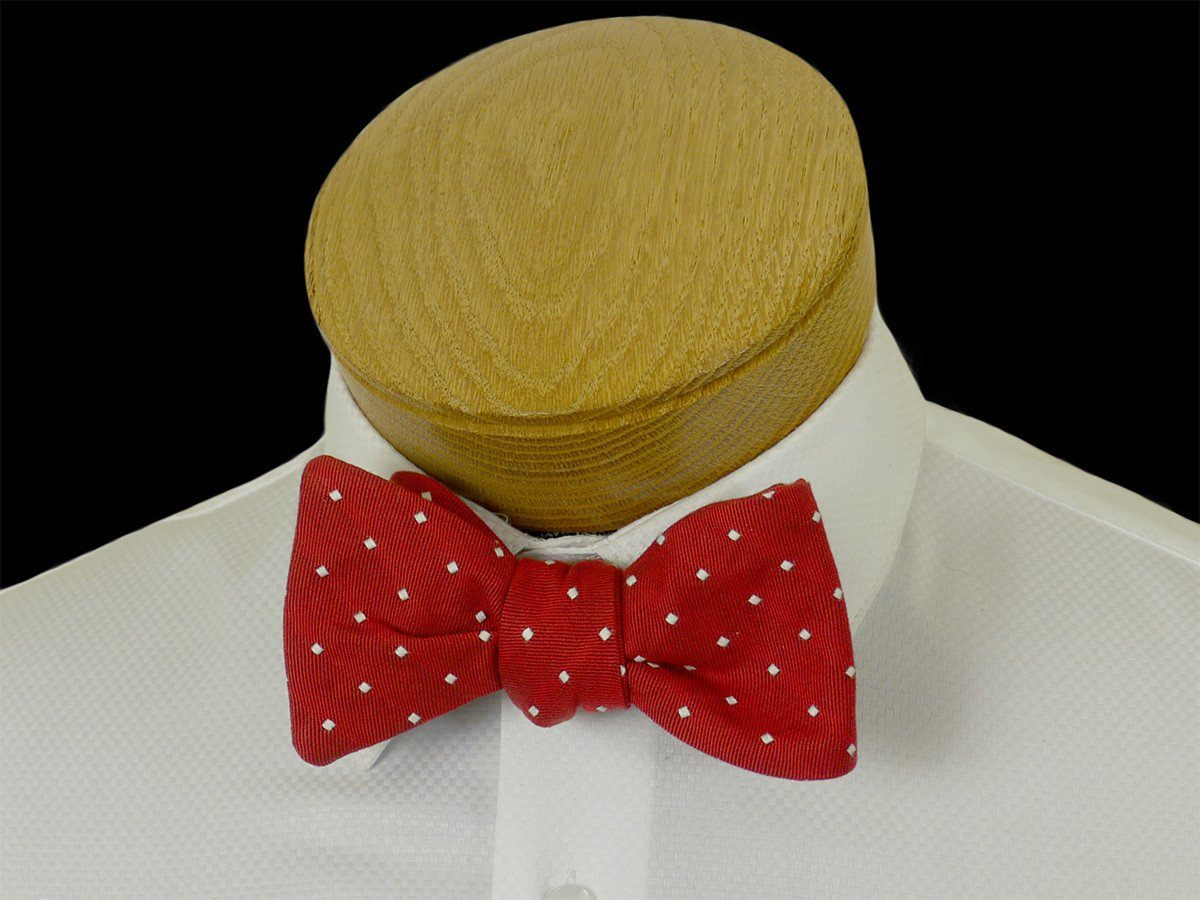Boy's Bow Tie 23579 Red/White Dot