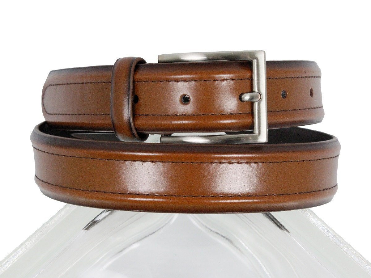 Florsheim 23603 100% Genuine Leather Boy's Belt - Double Stitch - Cogn